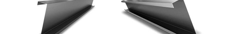 Z és C profilok tűzihorganyzott acélból készült, hidegen alakított könnyű profilok
