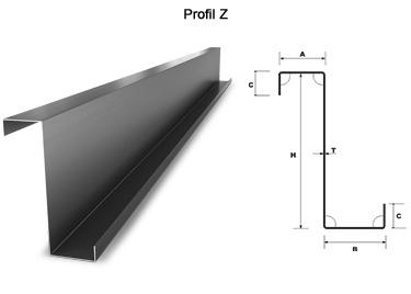 Z profil tűzihorganyzott acélból készült