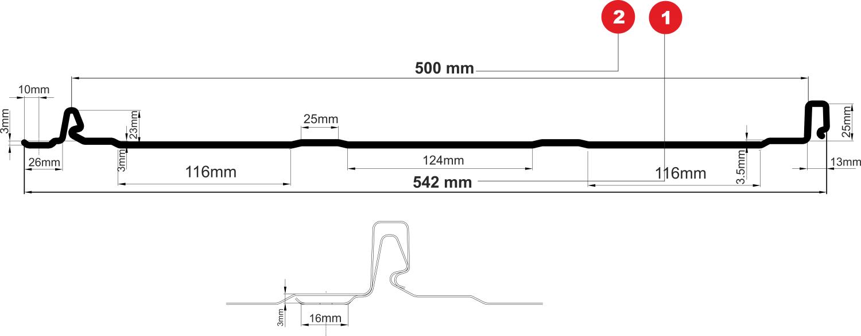 RetroPanel műszaki rajz