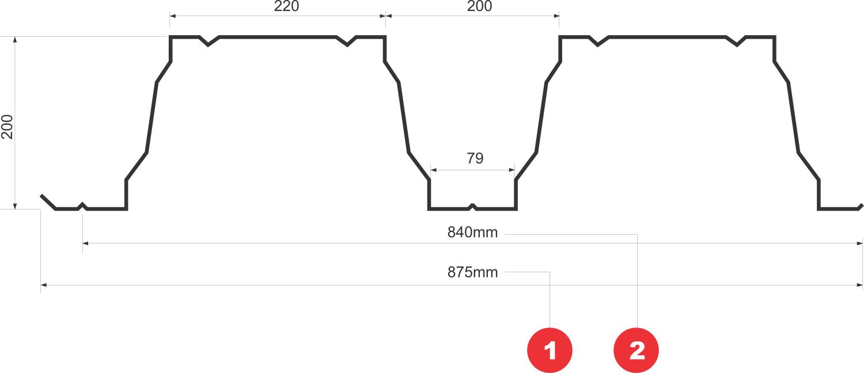T200 trapézlemez